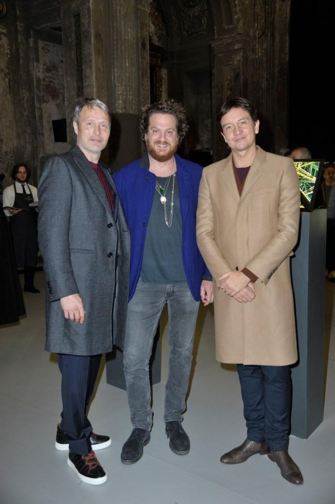 Actor Mads Mikkelsen, Evan Yurman and artist Anthony James.