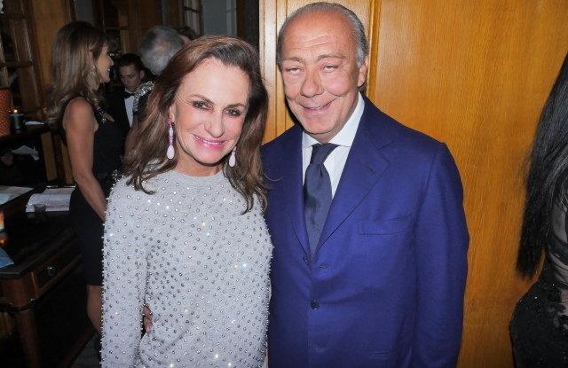Fawaz Gruosi and Georgina Brandolini