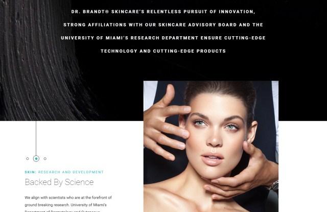 Dr. Brandt Skincare new web site.