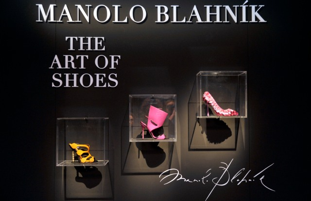 """Manolo Blahnik. The Art of Shoes"" exhibition in Milan."