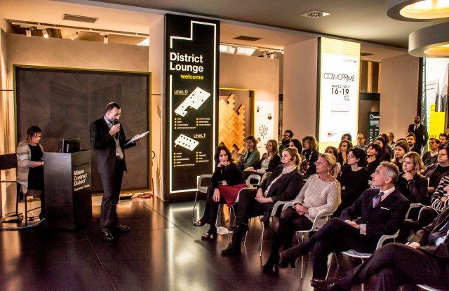 Cosmoprof Worldwide Bologna's director Enrico Zannini presenting Cosmoprime.