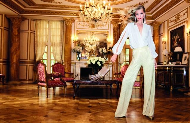Toni Garrn in Elisabetta Franchi's spring 2017 ad.