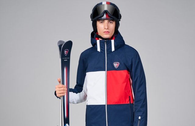 A look from the Tommy x Rossignol capsule collection.