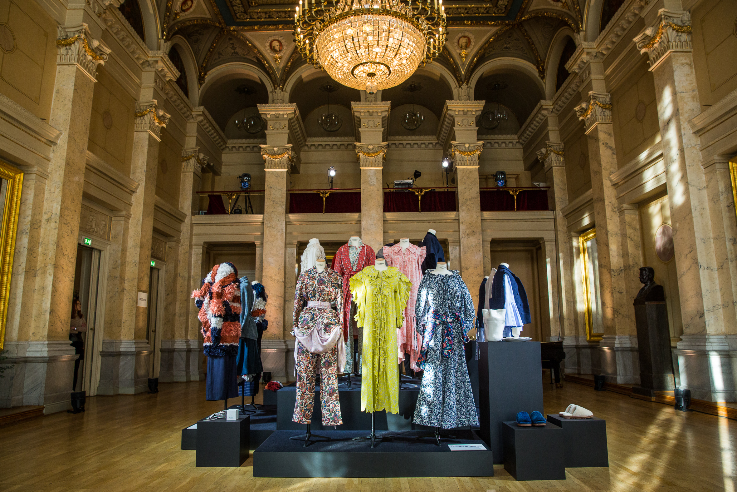 A coup d'oeuil of the winning designer's collections at Palais am Festungsgraben.