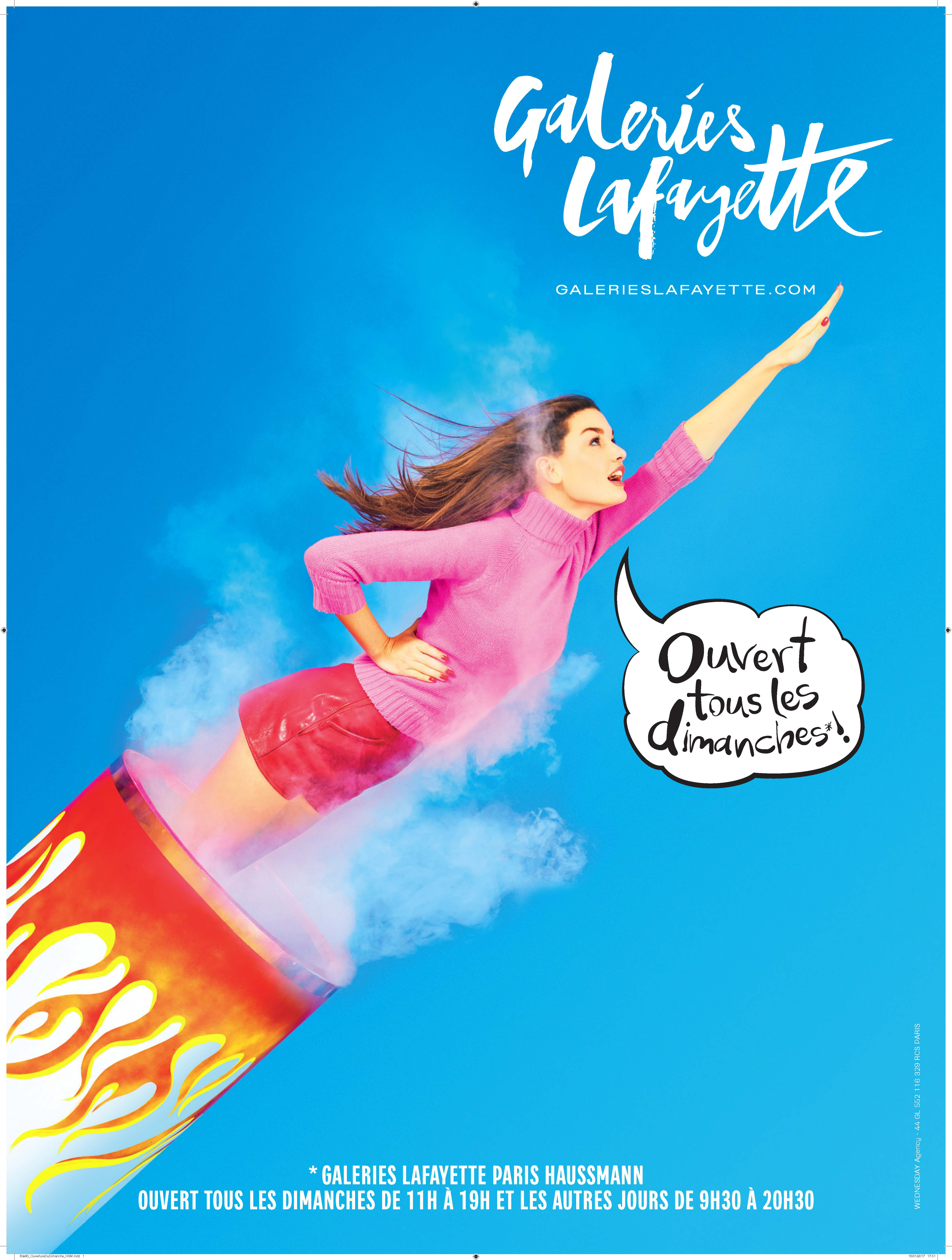 An ad by Toilet Paper for Galeries Lafayette.
