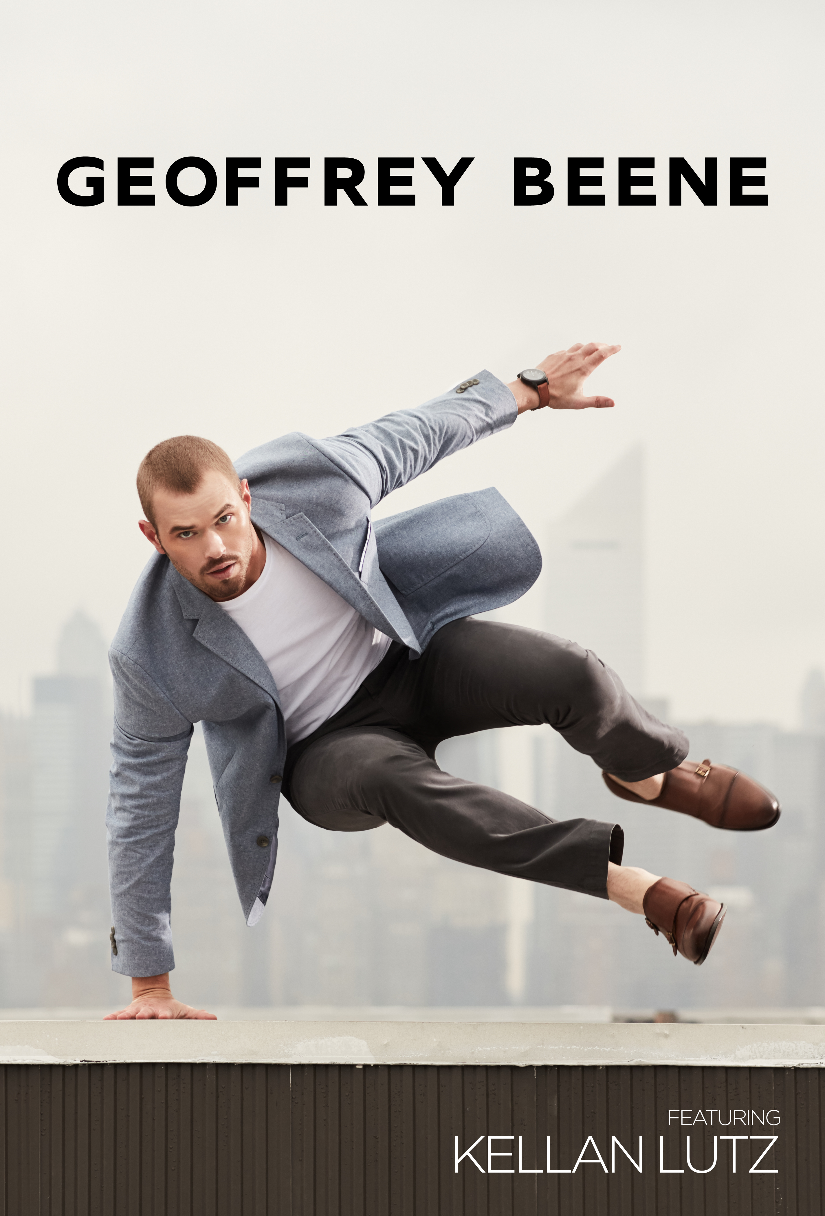 The Geoffrey Beene commecials feature Kellan Lutz.
