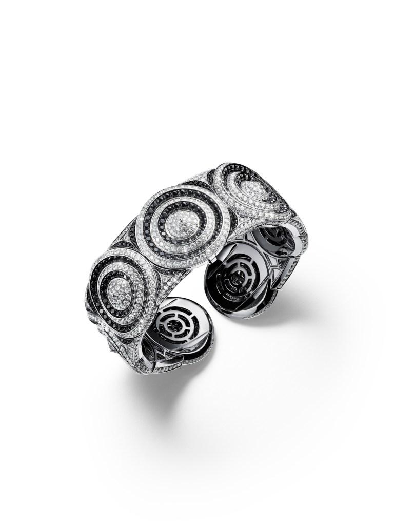 """Giampiero Bodino's """"Mosaico"""" mystery watch jewelry bracelet."""