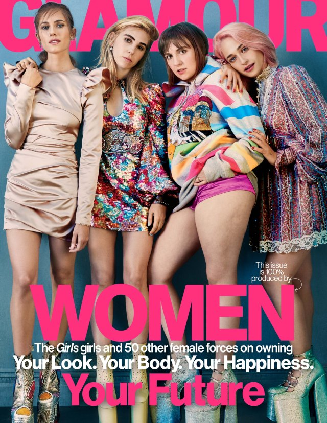 Glamour's February issue.
