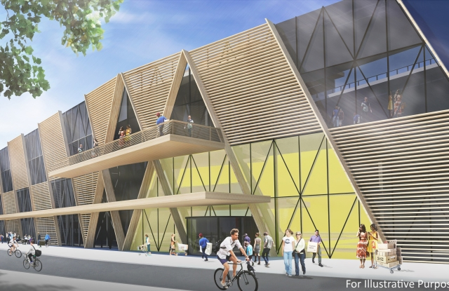 A rendering of the new Ikea store in London