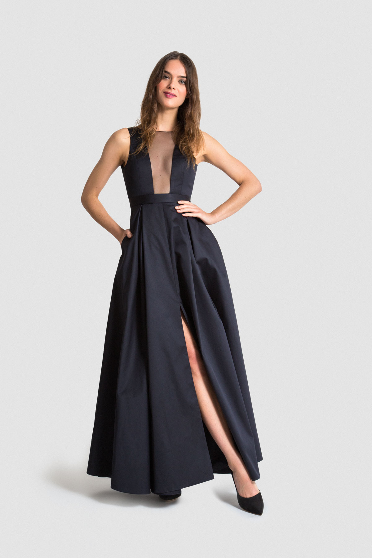Vaute Couture vegan satin gown
