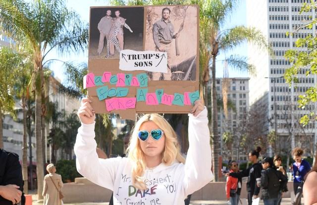 Ke$ha at Women's March in L.A.