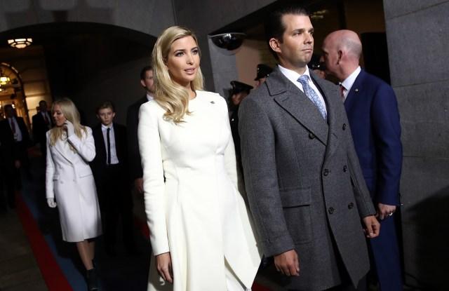 Trump Inauguration Ivanka Trump and Donald Trump Jr.