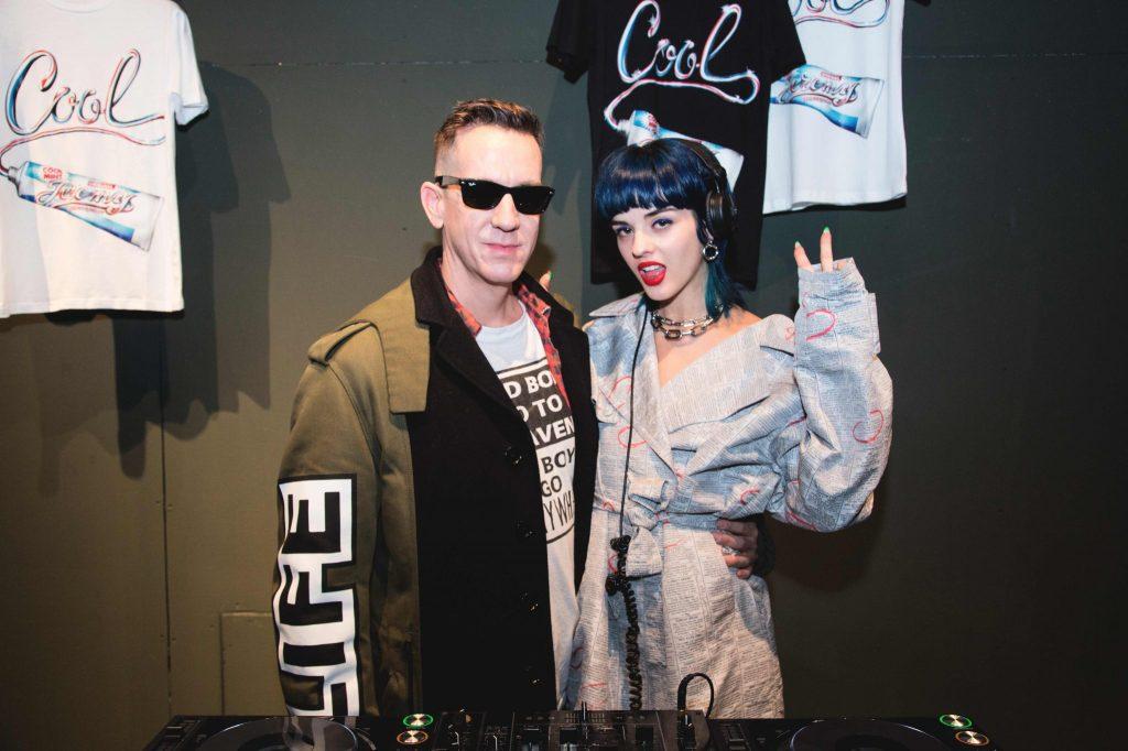 Jeremy Scott with DJ Sita Abellan at So-Milano.