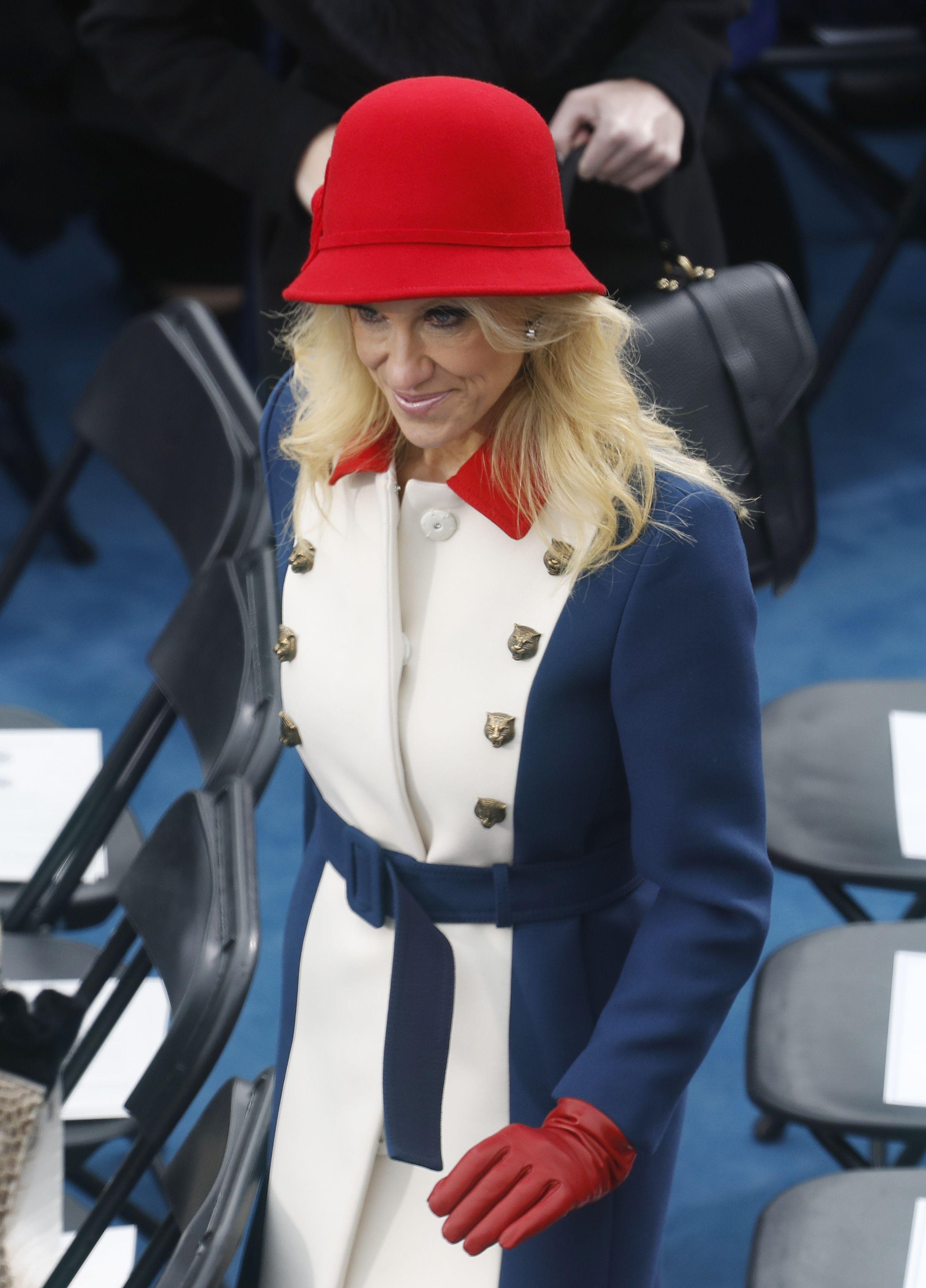 Kellyanne Conway in Gucci coat