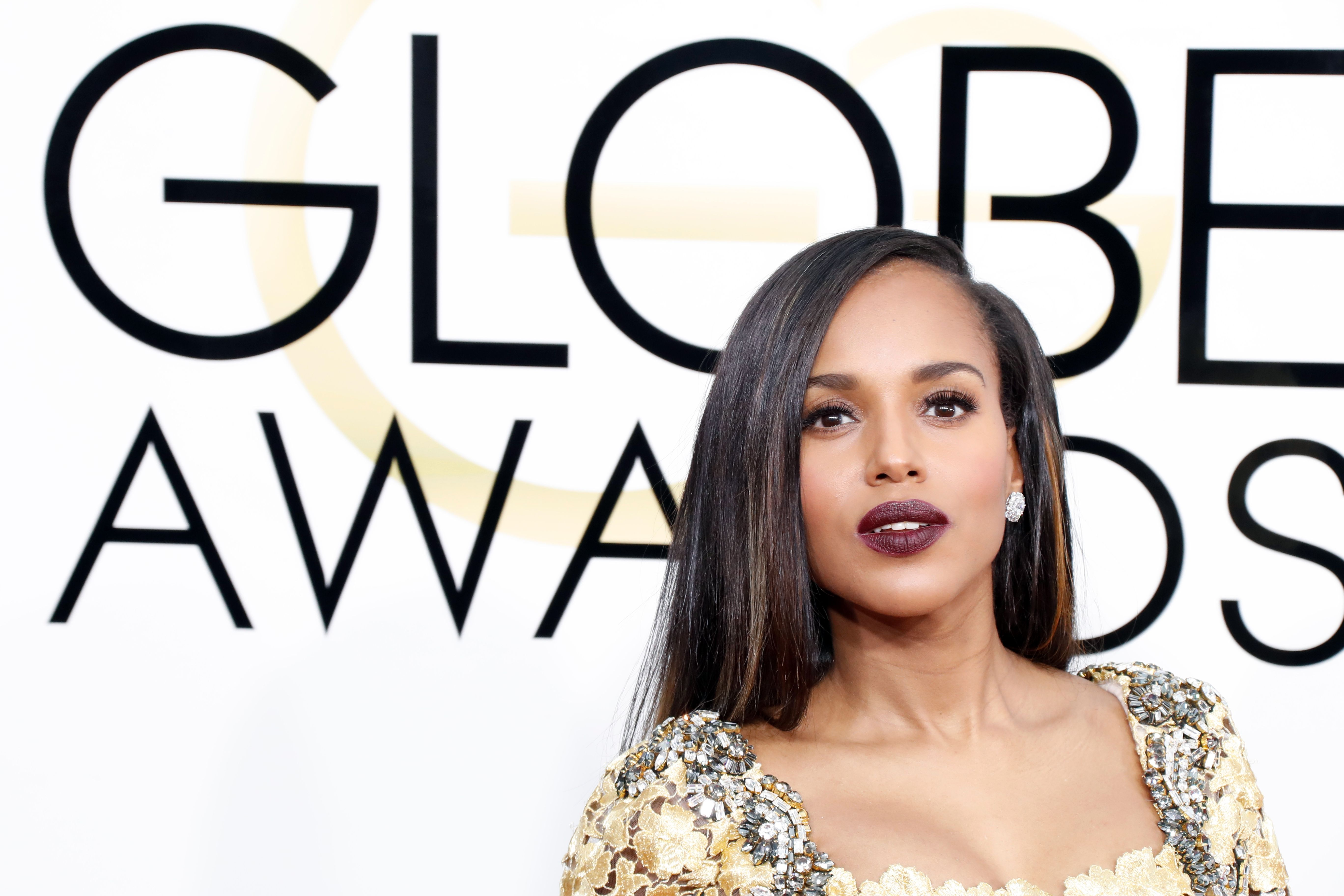 Kerry Washington Golden Globe Awards 2017: Best in Hair and Makeup Trends