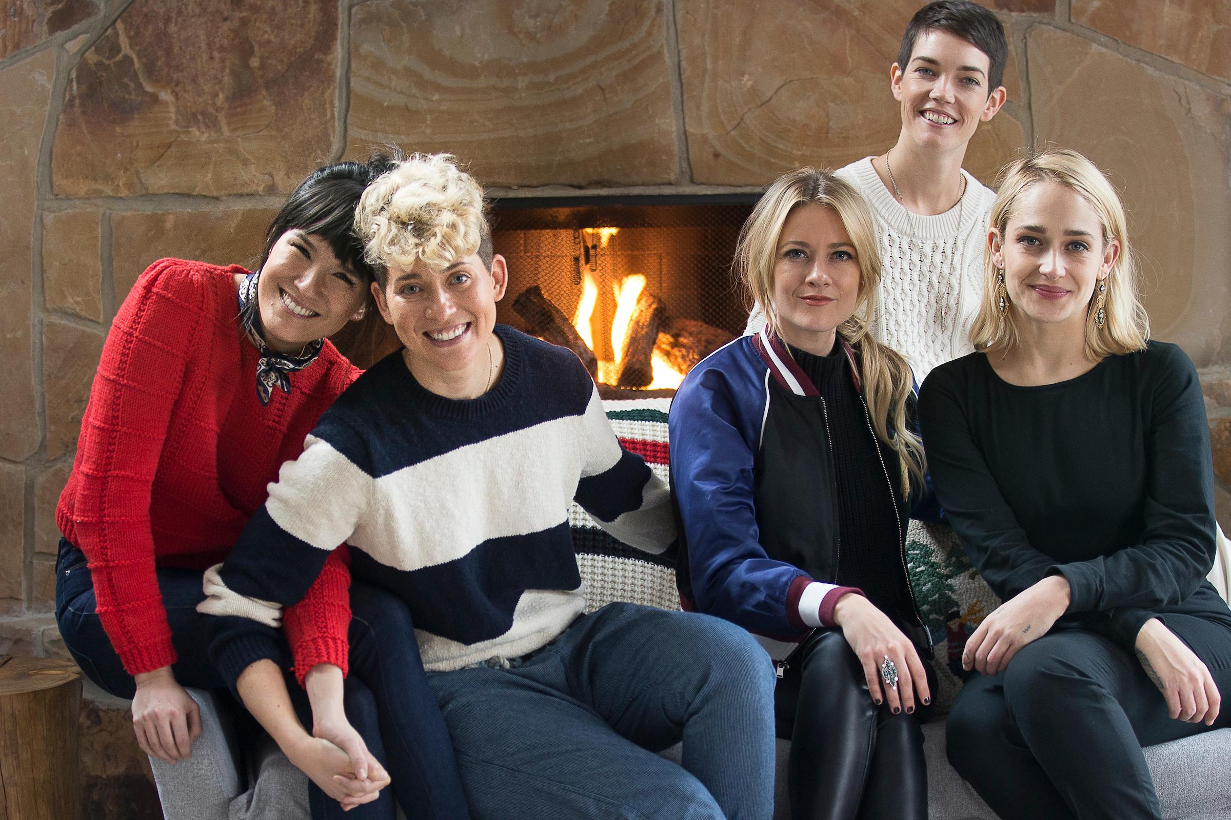 "The ""Strangers"" crew: Zoe Chao, Mia Lidofsky, Meredith Hagner, Celia Rowlson-Hall and Jemima Kirke"