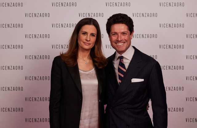 Livia Firth and Matteo Marzotto at VicenzaOro