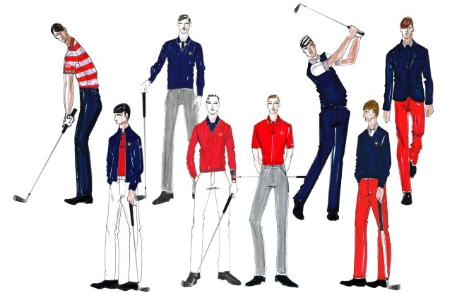 The Lacoste Presidents Cup uniforms for the American team.