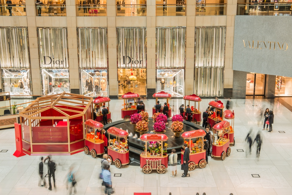 The Landmark set up a Chinese New Year artisanal market inviting stand out Hong Kong brands to do pop-up booths in the upscale mall's atrium.