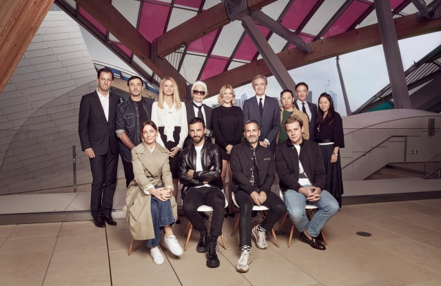 The jury of the 2016 edition of the LVMH Prize.