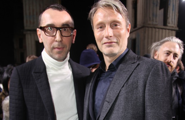 Alessandro Sartori and Mads Mikkelsen in the front row