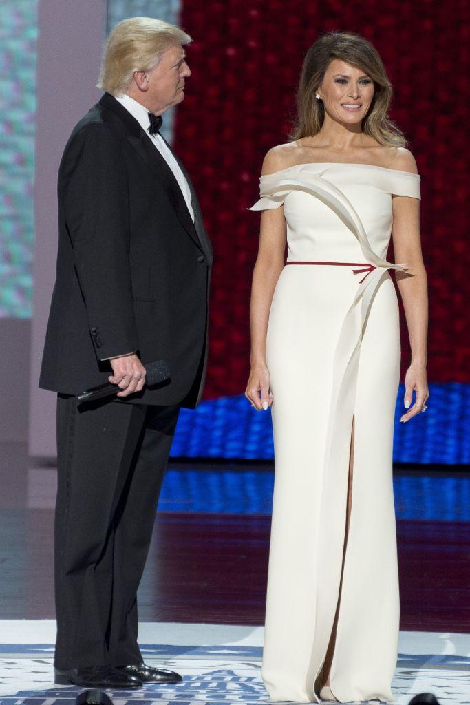 melania trump inaugural ball gown