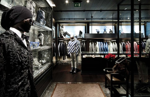 The Moncler boutique on Via Montenapoleone in Milan.