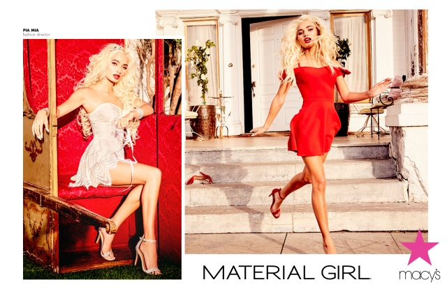 Material Girl x Pia Mia collection Spring 2017 ad images