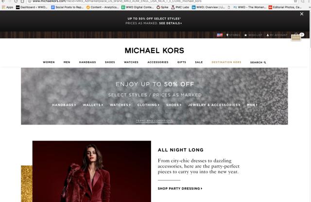 If you type in KateSpadeNewYork.com, you get to MichaelKors.com.