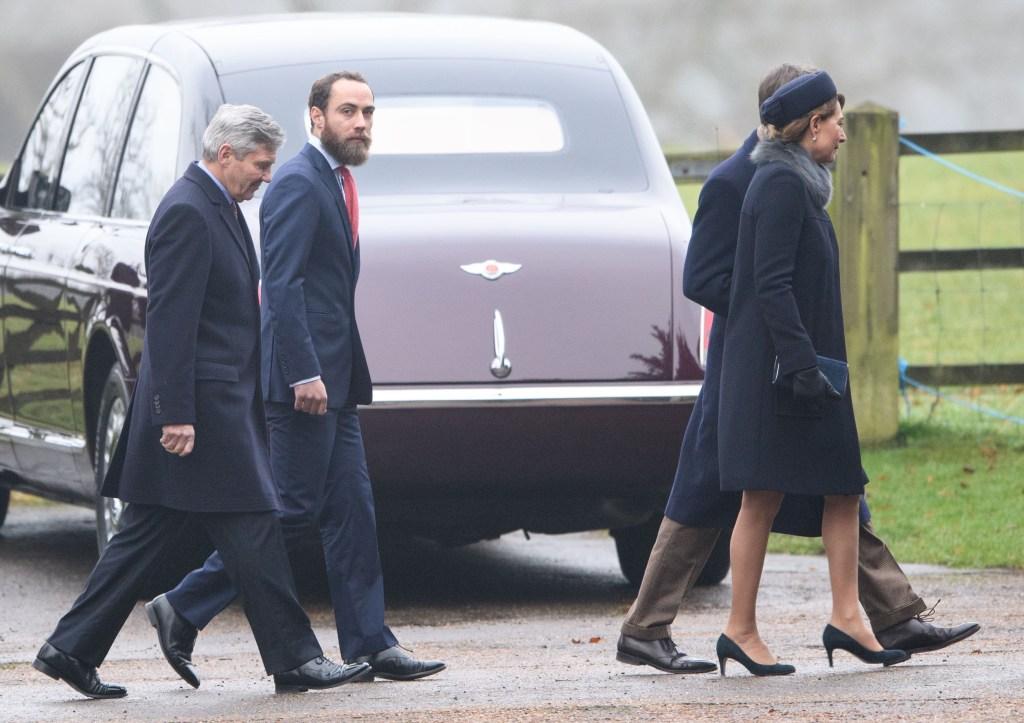 Michael Middleton, James Middleton and Carole Middleton