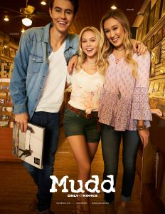 Nash Grier, Jordyn Jones, Lauren Riihimaki in Mudd spring 2017 ads