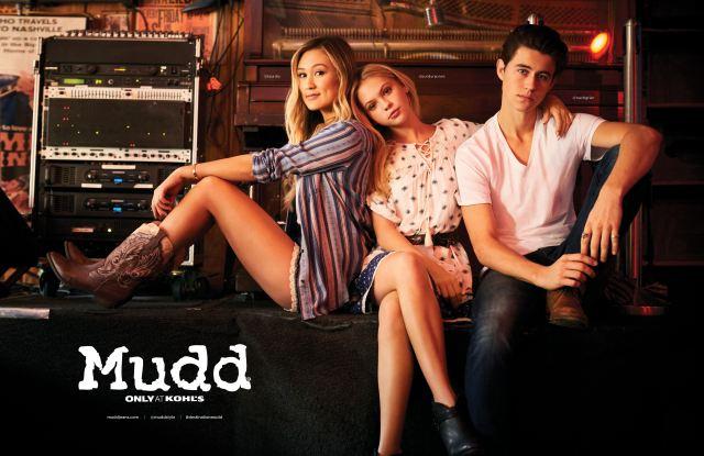 Lauren Riihimaki, Jordyn Jones, Nash Grier in Mudd spring 2017 ads