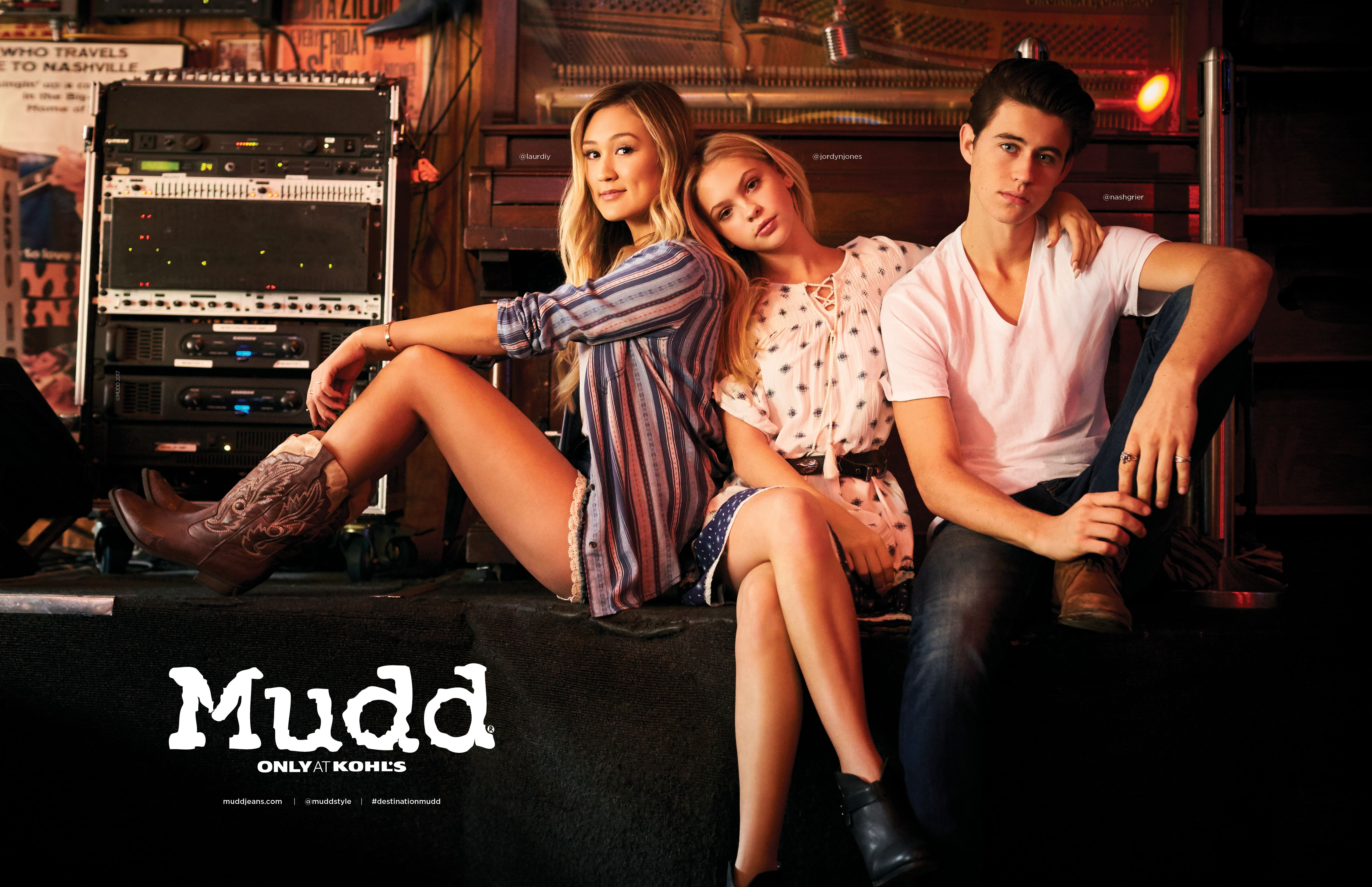 Lauren Riihimaki, Jordyn Jones, Nash Grier in Mudd spring 2017 ads