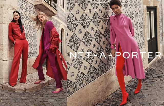 A visual of Net-a-porter's spring campaign