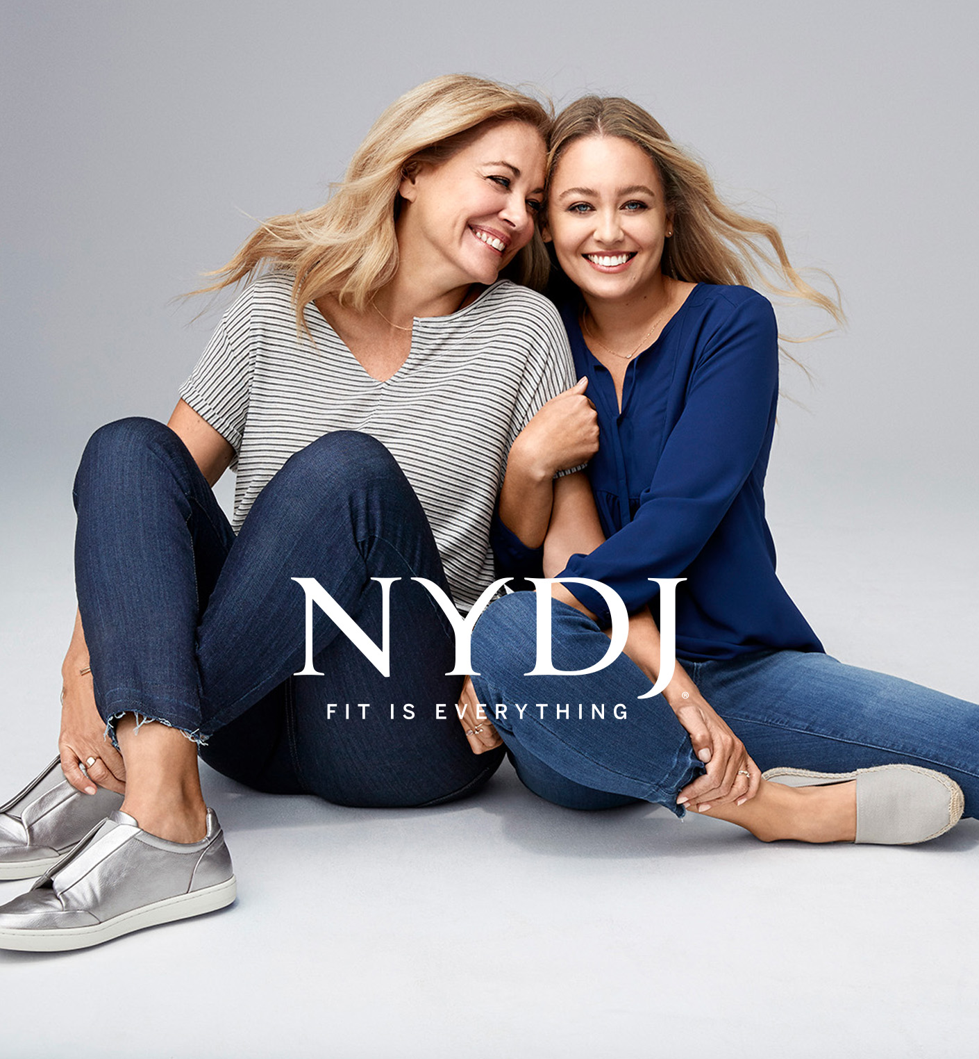 """Looks from the NYDJ """"Fit Is Everything"""" campaign."""