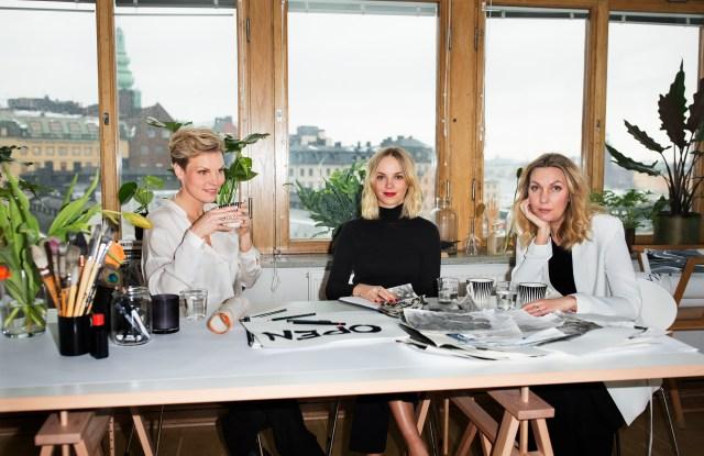 Open Studio's Eva Aggerborg, Helena Carlberg and Sara Hildén-Bengtsson.