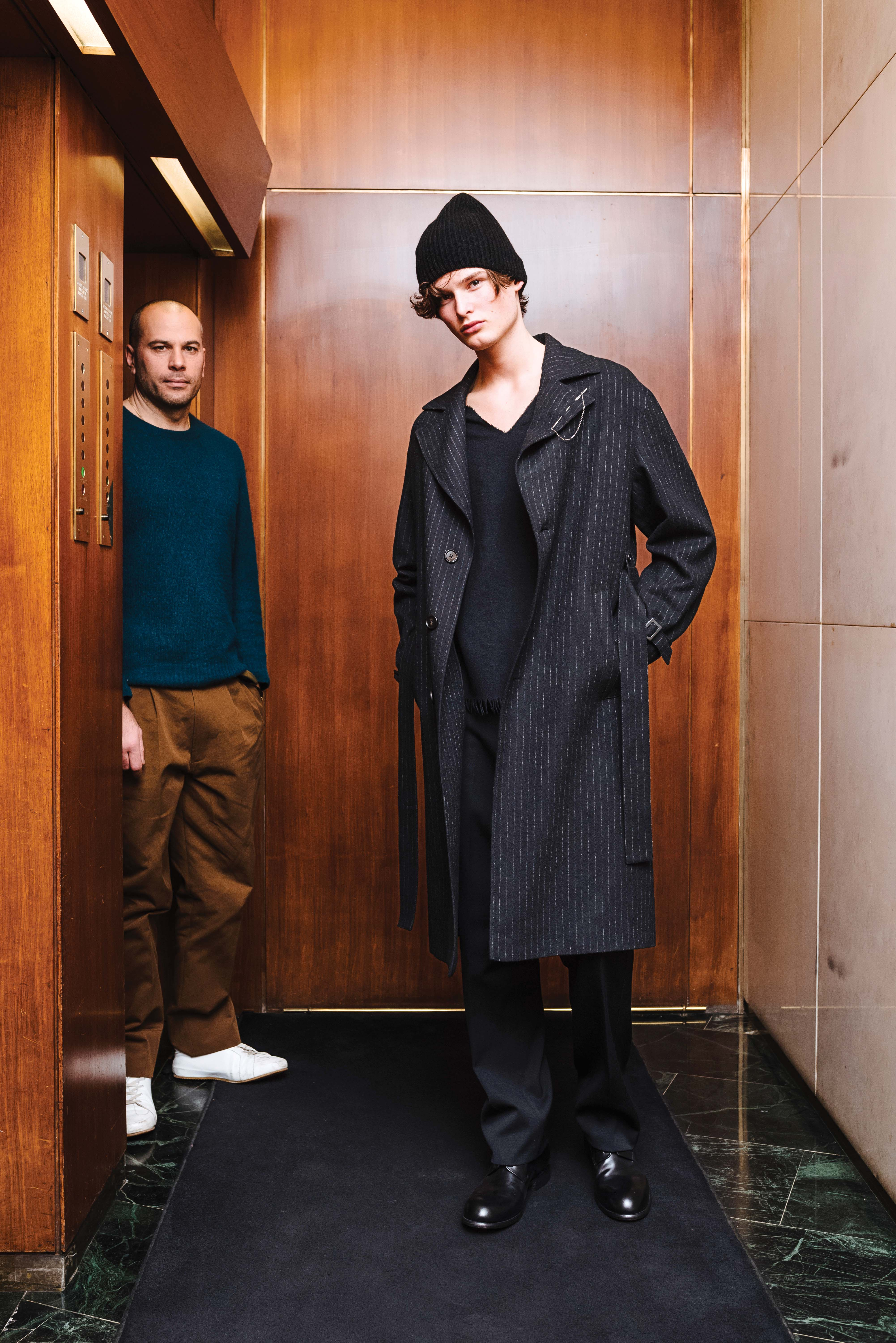 Federico Curradi uses eco-friendly materials in his collection.