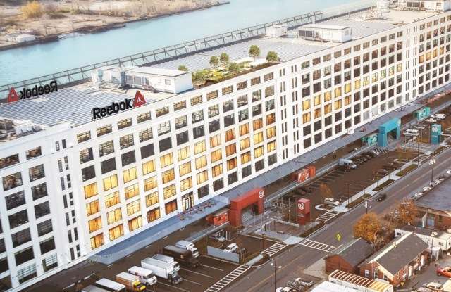 A rendering of Reebok's new offices in the Seaport district in Boston.