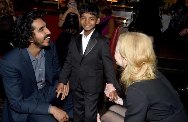 Dev Patel, Sunny Pawar, and Nicole Kidman.