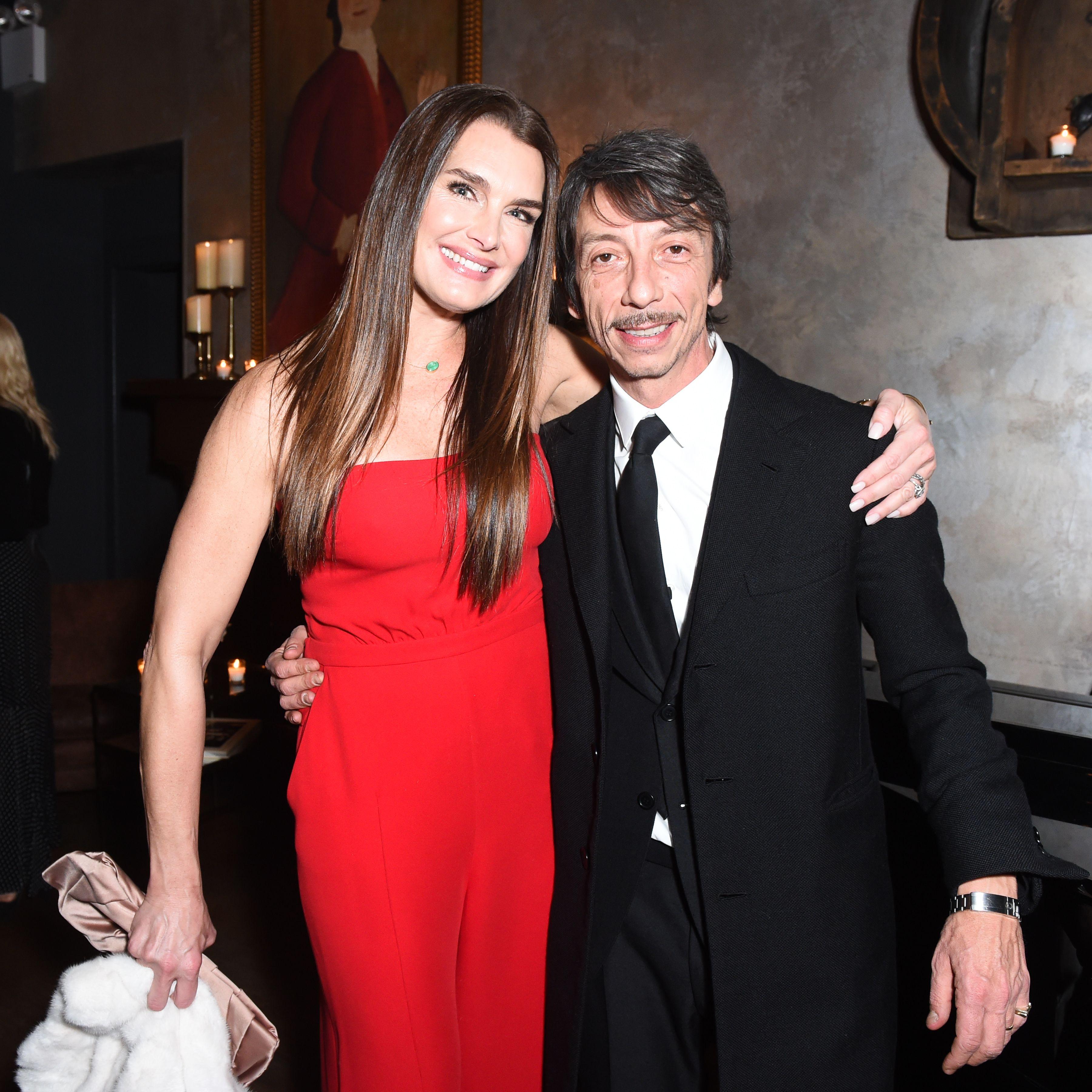 Brooke Shields and Pierpaolo Piccioli.