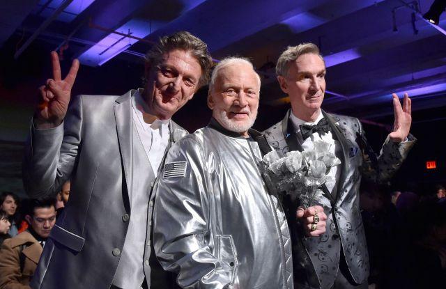 Nick Graham, Buzz Aldrin, and Bill Nye.