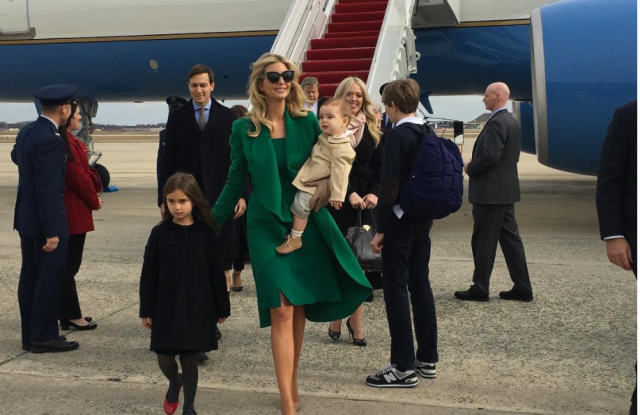 Trump Inauguration: Photos Ivanka Trump, Jared Kushner and family.