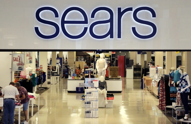 A Sears store front inside a mall.