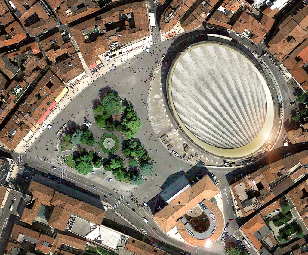 SBP & GMP rendering for Verona's Arena movable covering.