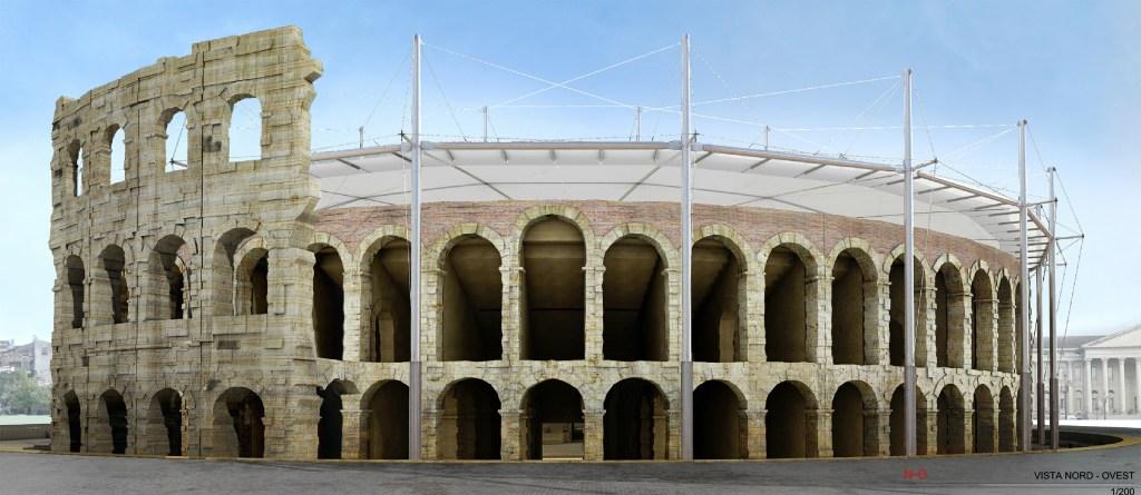Roberto G.M. Ventura's rendering for Verona's Arena.