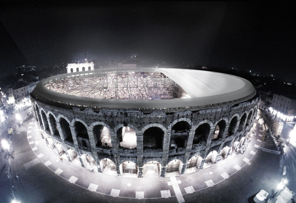 Vincenzo Latina's rendering for Verona's Arena.
