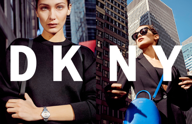 Bella Hadid in the new DKNY campaign.