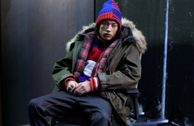 A look from Tommy Hilfiger's Fall collection that will be shown at Pitti Uomo.