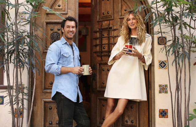 Erin Wasson in a Toms & Other Stories dress.