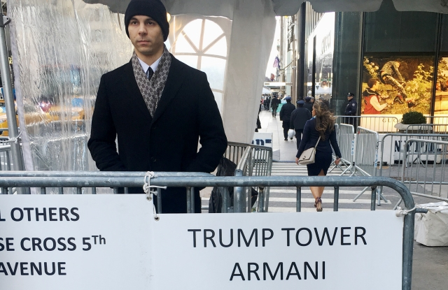 Security outside Trump Tower.